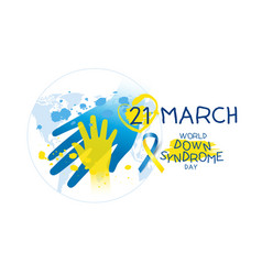 world down syndrome day design vector image vector image