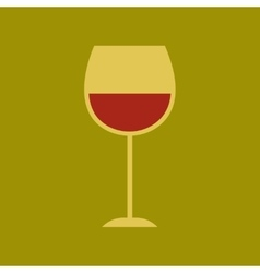 Flat icon on stylish background glass wine vector