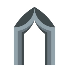 Gothic portal icon in flat style vector