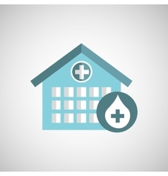 Donation concept hospital building icon vector