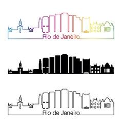 Rio de janeiro v2 skyline linear style with vector