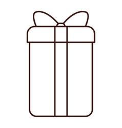 Gift box ribbon vector