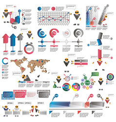Infographics for business presentations vector