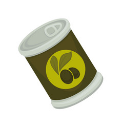 tinned black olives vector image