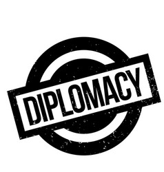 Diplomacy rubber stamp vector