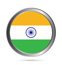 India flag button vector