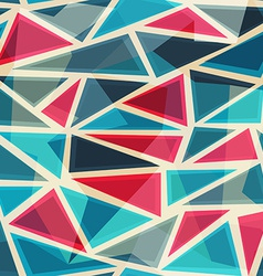 Mosaic modern triangles seamless pattern vector