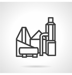 Industrial building flat line icon vector