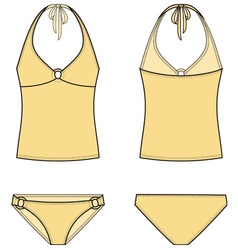 Swimsuit vector image