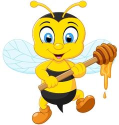 bee holding honey vector image