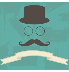 Hipster on abstract background vector