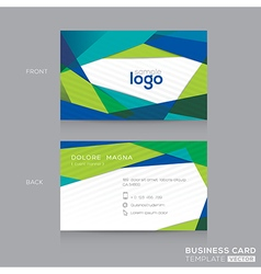 Abstract modern blue green business card design vector