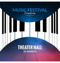Music festival poster background musical jazz vector