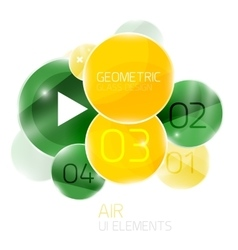 Abstract glass circles with sample text option vector