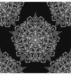 Handmade decorative ethnic seamless pattern in vector