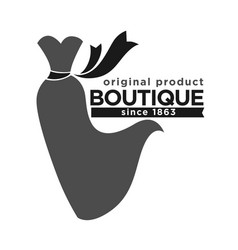 Boutique with original production since 1863 vector