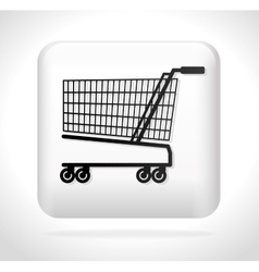 Cart shopping icon button vector