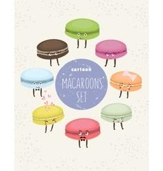 Cartoon cupcakes set vector