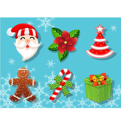 Christmas set of icons collection vector image vector image