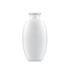 clean shampoo or lotion bottle mock up vector image