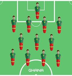 Computer game ghana football club player vector