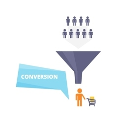 Conversion process flat vector
