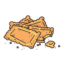 Cookies cartoon hand drawn image vector