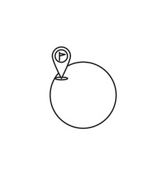 Destination placeholder icon vector