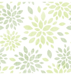 Fabric textured abstract leaves seamless pattern vector image vector image