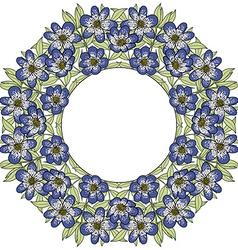 flowerframe vector image