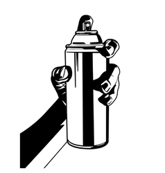 hand with spray paint vector image vector image