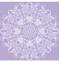 Kaleidoscope rosette lilac color vector