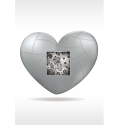 Mechanical heart with gears vector image vector image