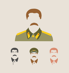 portrait of joseph stalin vector image
