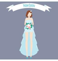 Prom queen flat vector