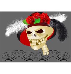 retro skull vector image vector image