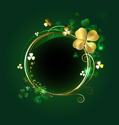 Round banner with clover vector
