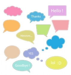 set of talking bubbles vector image vector image