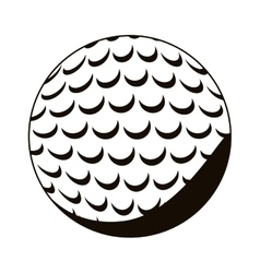Silhouette monochrome with golf ball vector