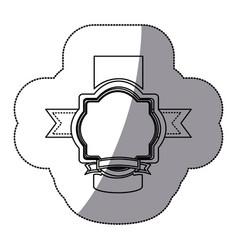 Sticker silhouette heraldic ornament decorative vector
