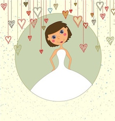 Sweet Wedding Invitation with Hearts vector image