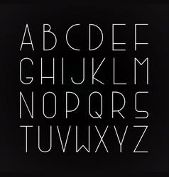 thin minimalistic font english alphabet vector image vector image