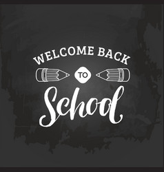 vintage welcome back to school logo retro vector image