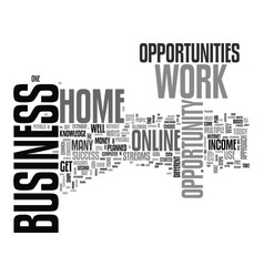 Work at home business opportunity a step by step vector