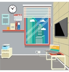 Cartoon office interior vector