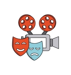 cinematographic camera with cinema icon vector image