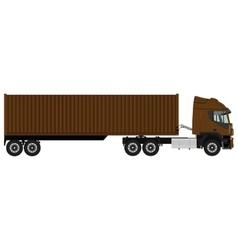 Brown cargo truck vector