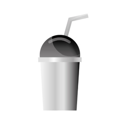 Plastic cup dome vector