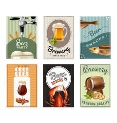 Beer vertical banners set vector
