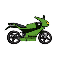 motorcycle transport adventure image vector image